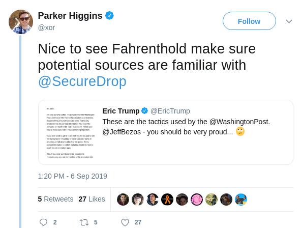 Parker's tweet